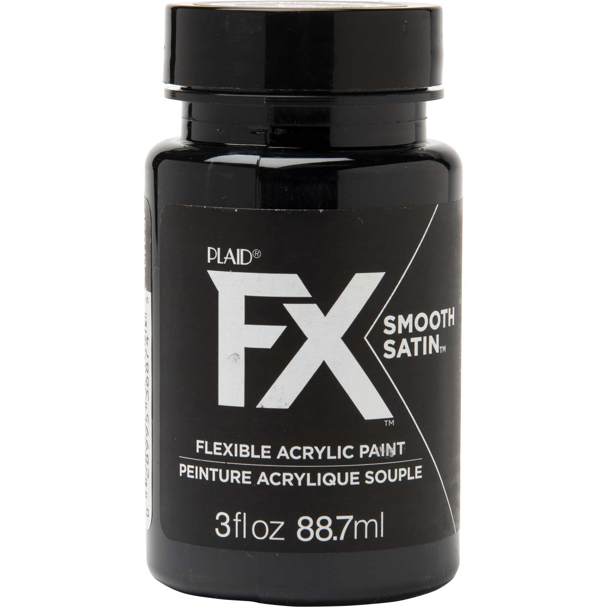 PlaidFX Smooth Satin Flexible Acrylic Paint - Carbon, 3 oz. - 36874