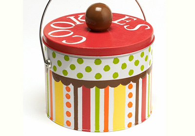 Dots and Stripes Cookie Tin
