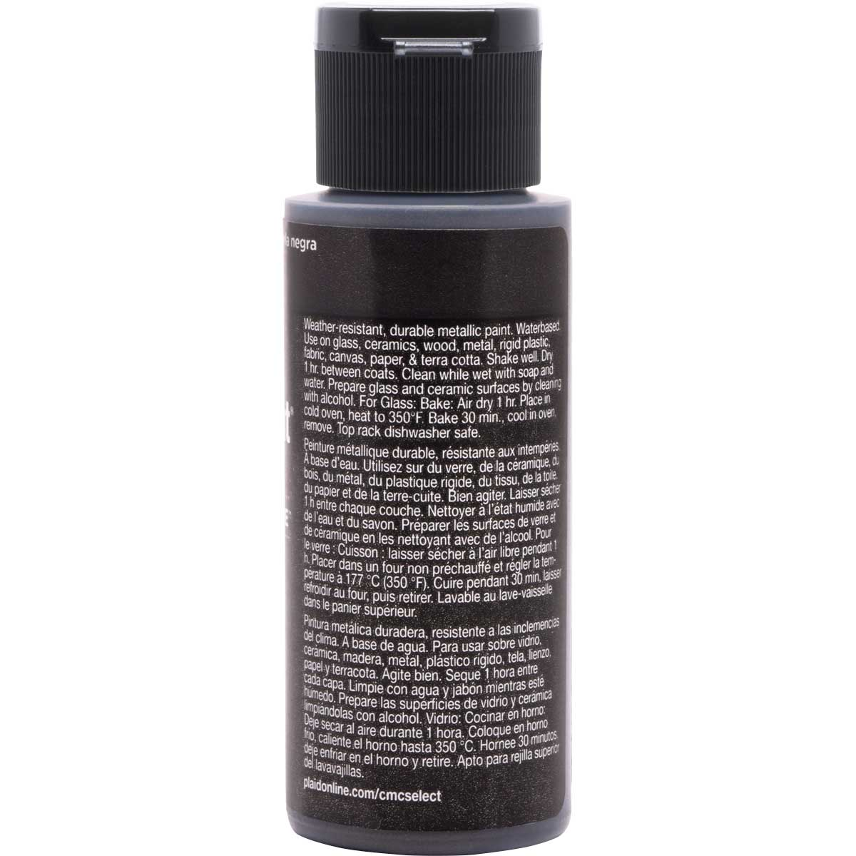 Delta Ceramcoat ® Select Multi-Surface Acrylic Paint - Metallic - Black Pearl, 2 oz. - 04114