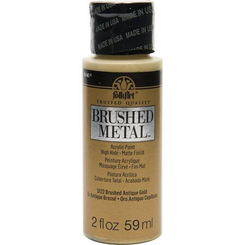 FolkArt ® Brushed Metal™ Acrylic Paint - Antique Gold, 2 oz. - 5122