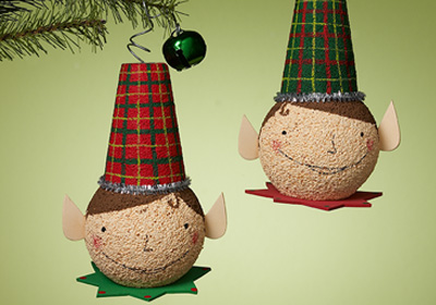 Twin Elf Ornaments