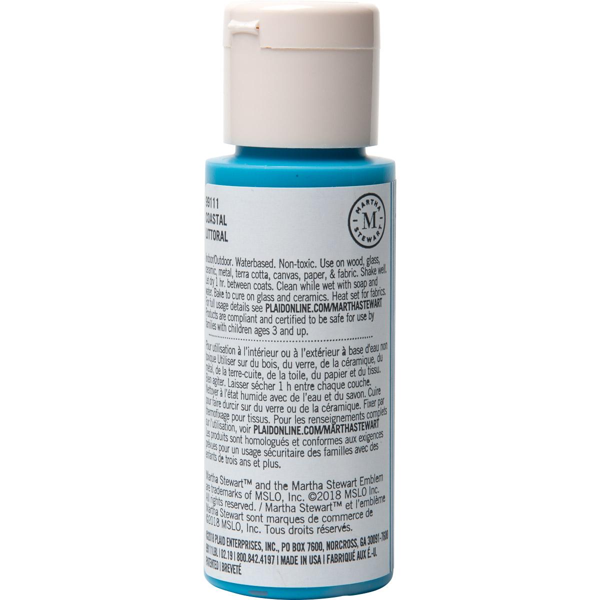 Martha Stewart ® Multi-Surface Satin Acrylic Craft Paint CPSIA - Coastal, 2 oz. - 99111