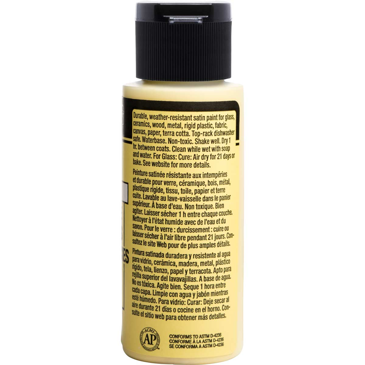 FolkArt ® Multi-Surface Satin Acrylic Paints - Pale Yellow, 2 oz.