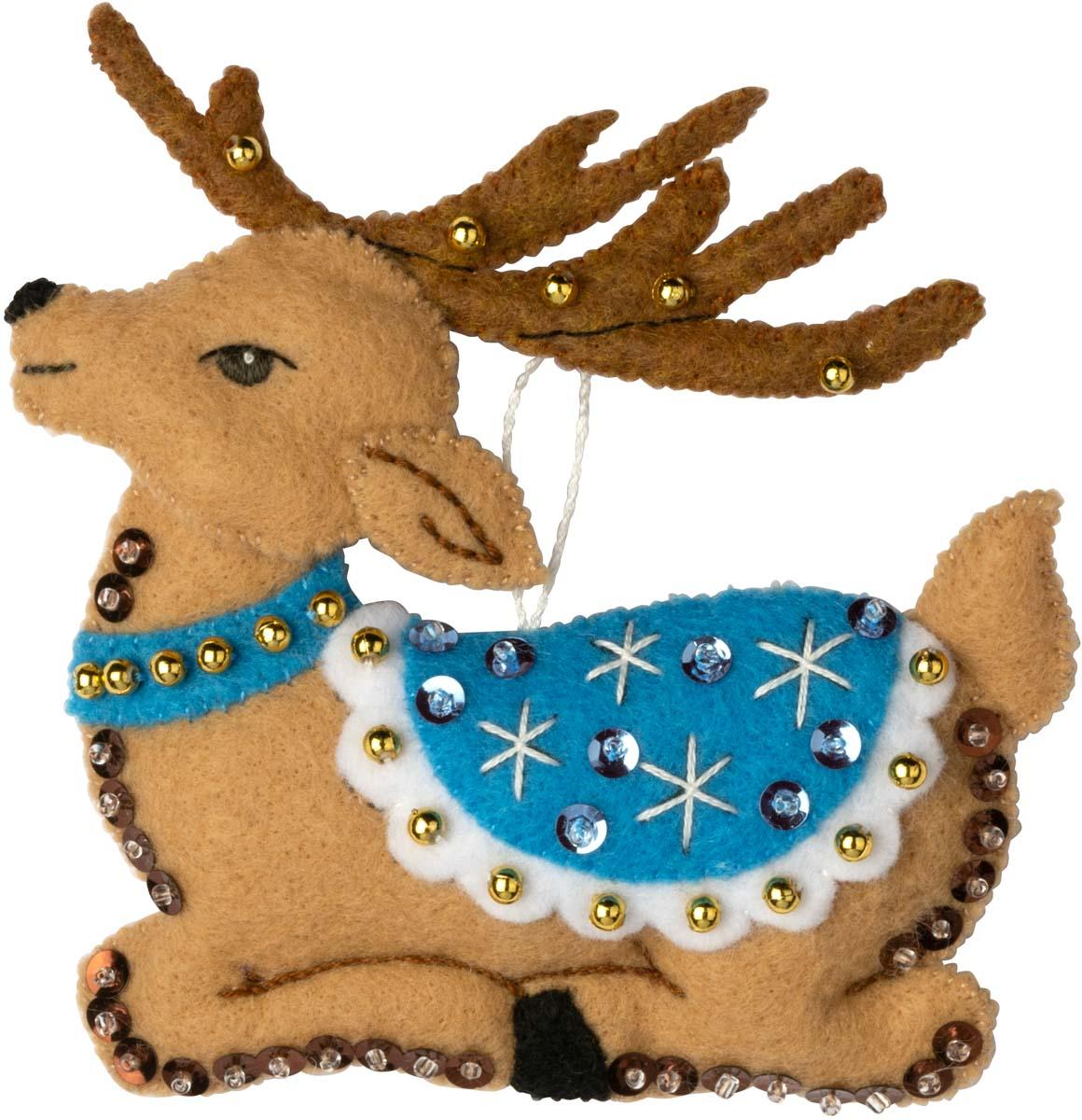 Bucilla ® Seasonal - Felt - Ornament Kits - Festive Reindeer - 89299E