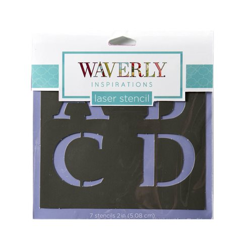 "Waverly ® Inspirations Stencils - Accent - Alpha Serif, 6"" x 6"""