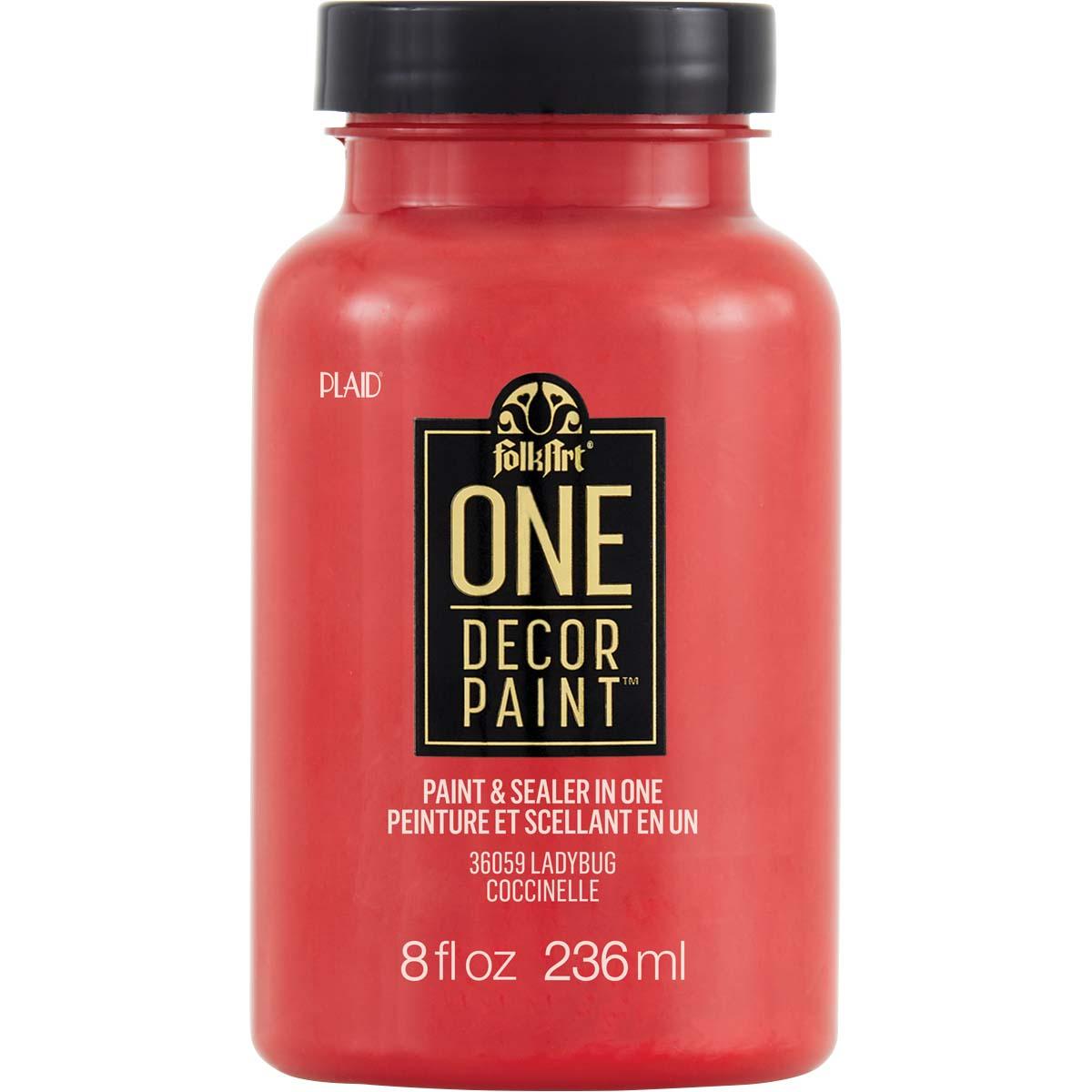 FolkArt ® One Décor Paint™ - Ladybug, 8 oz. - 36059
