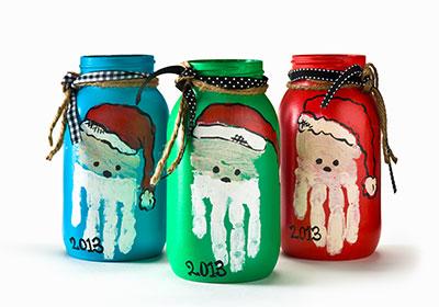 Christmas Santa Jars