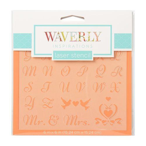 "Waverly ® Inspirations Laser Stencils - Accent - Alpha Fancy, 6"" x 6"""