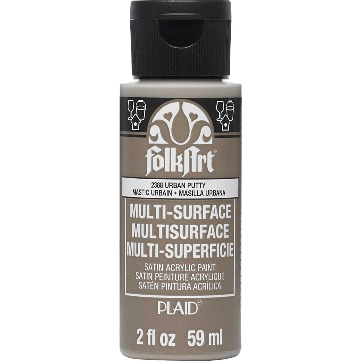 FolkArt ® Multi-Surface Satin Acrylic Paints - Urban Putty, 2 oz.