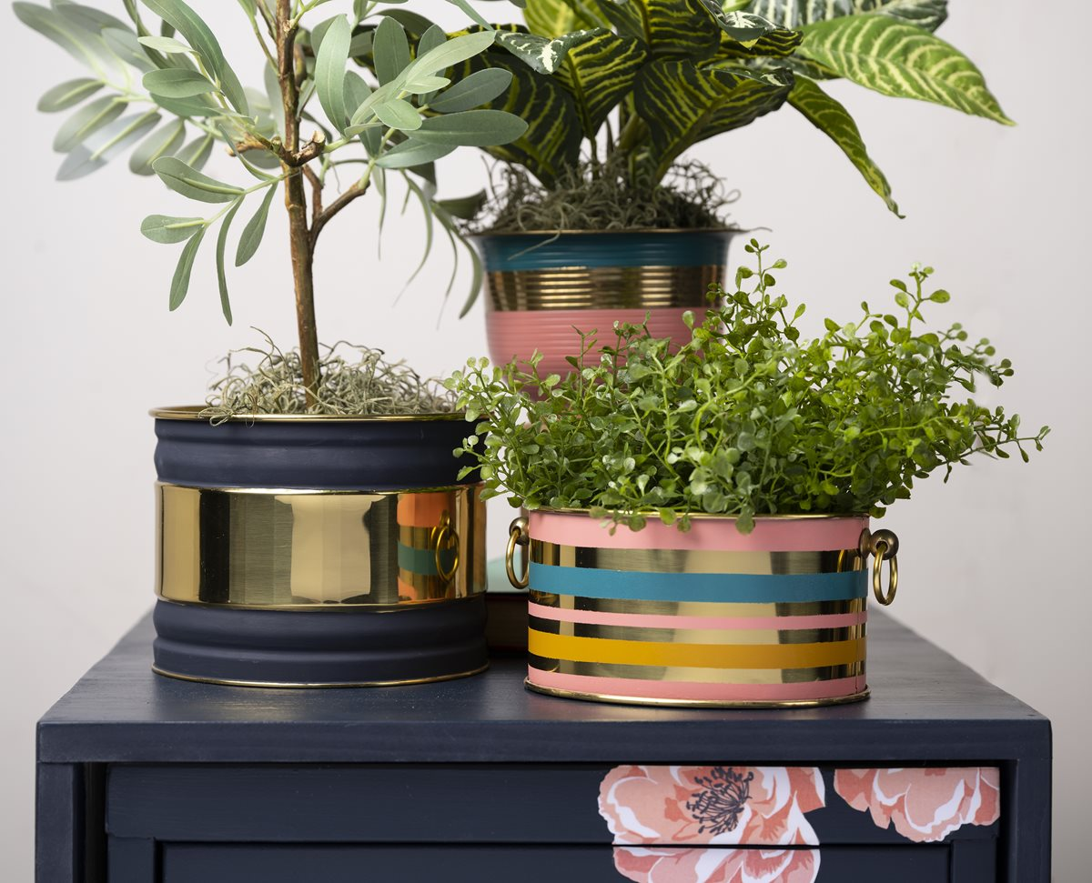 Upcycled Brass Planters