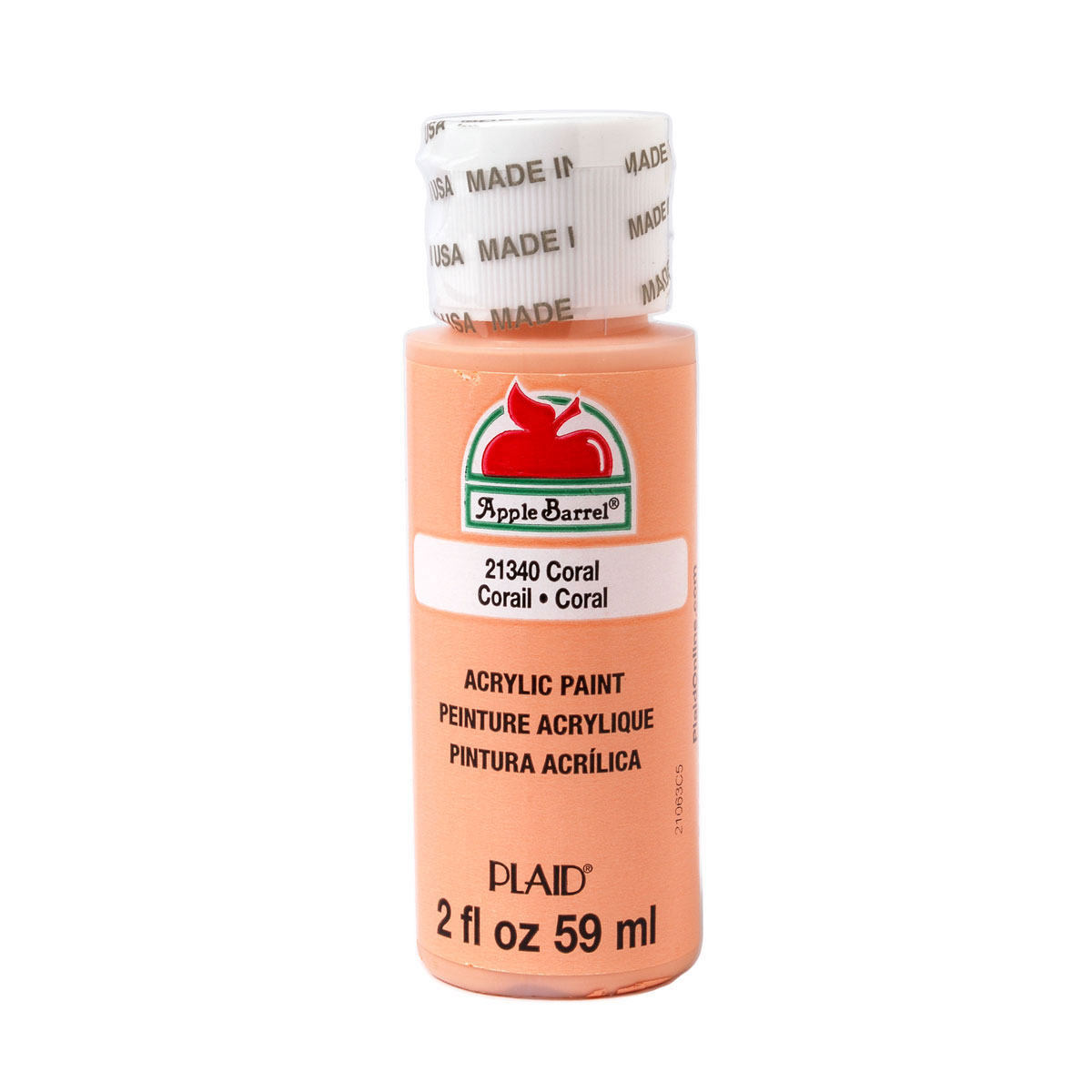 Apple Barrel ® Colors - Coral, 2 oz.
