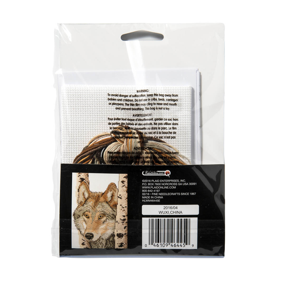 Bucilla ® Counted Cross Stitch - Picture Kits - Mini - Wolf - 46445