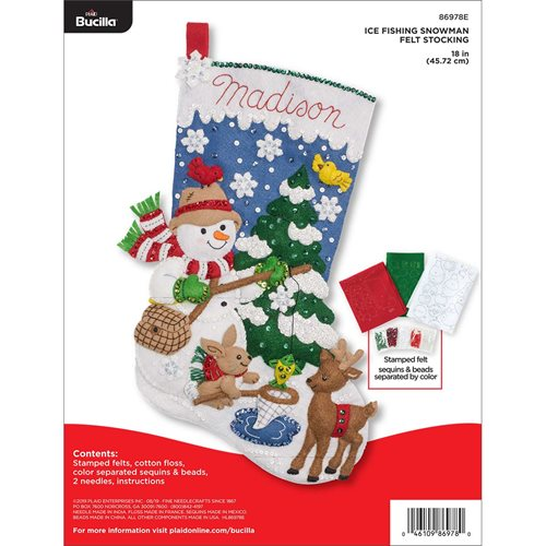 Bucilla ® Seasonal - Felt - Stocking Kits - Ice Fishing Snowman