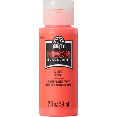 FolkArt ® Neon Blacklight™ Colors -  Red, 2 oz. - 7225