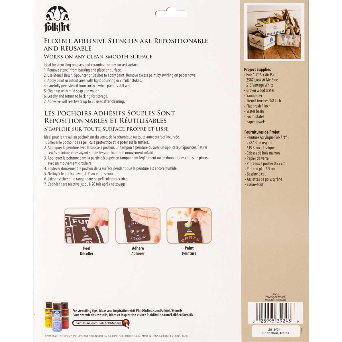 FolkArt ® Laser Cut Adhesive Stencils - Farmhouse Market