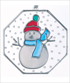 Winter Snowman Ornament