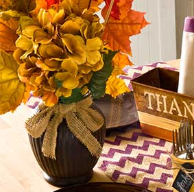 Thanksgiving Buffet Chalk Vase