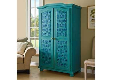Decorative Armoire featuring FolkArt Home Decor Chalk
