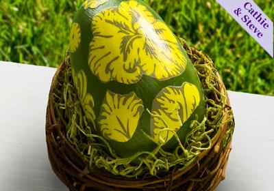 Damask Mod Podge Egg
