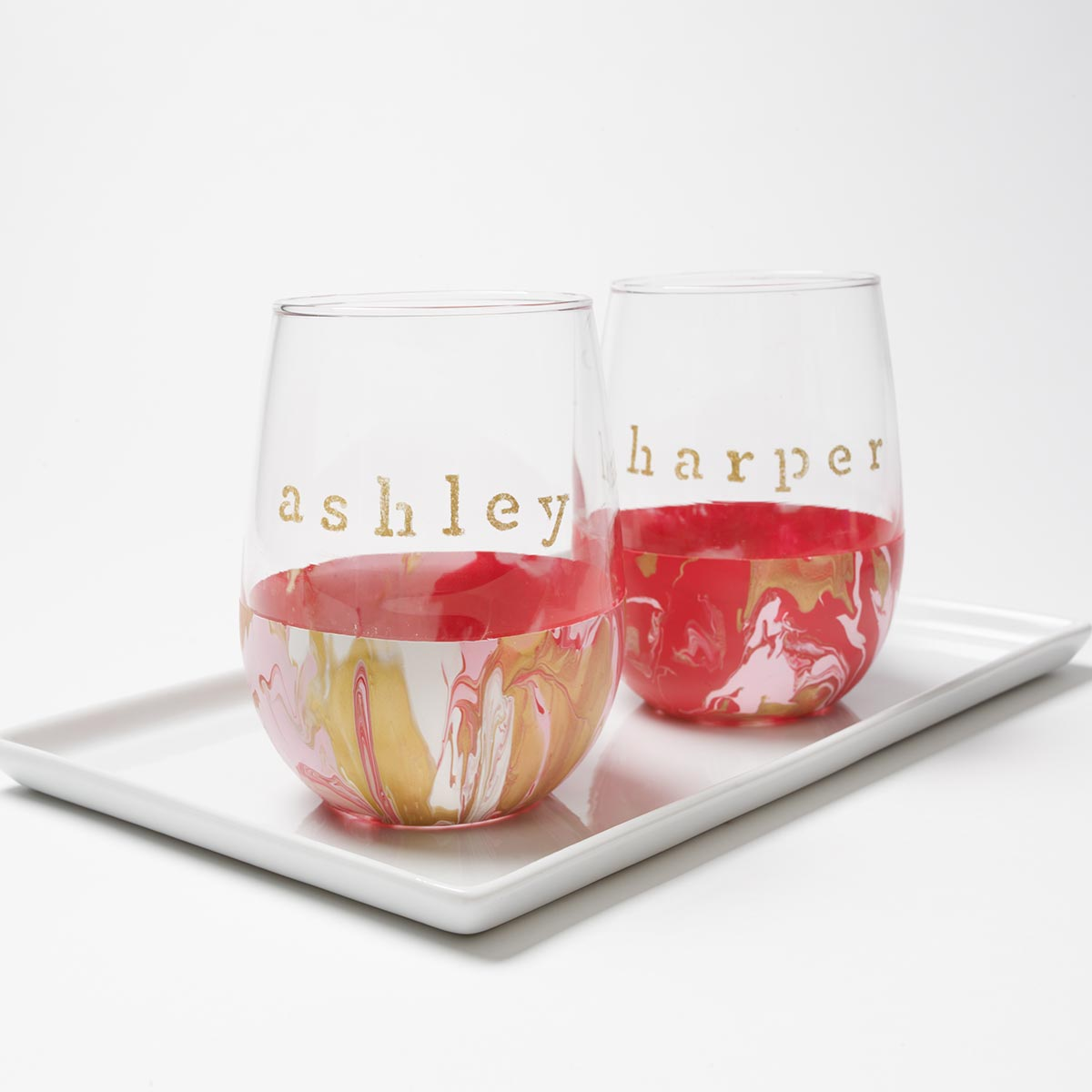 Cute DIY Valentine's Day Gift - Personalized Wine Glasses