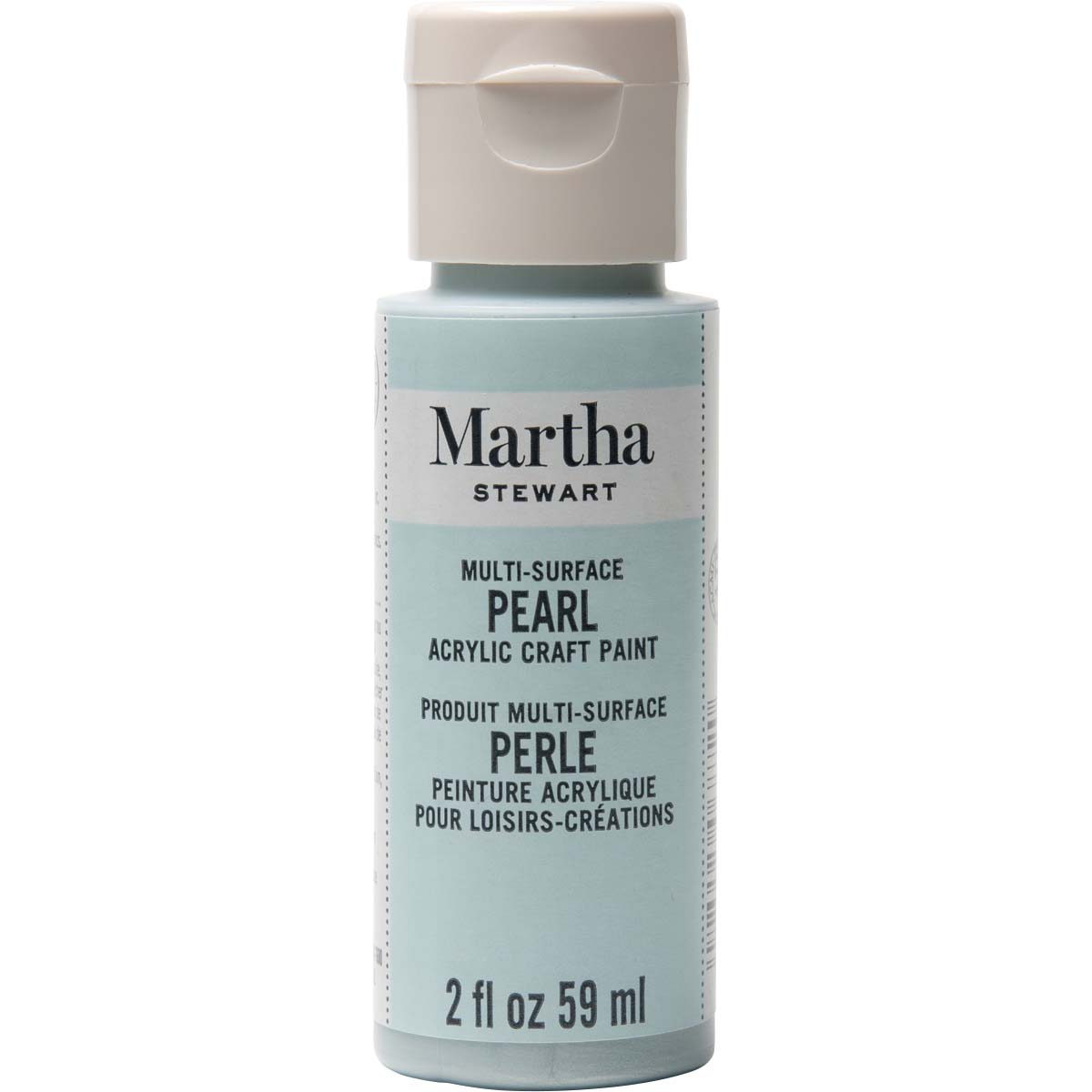 Martha Stewart ® Multi-Surface Pearl Acrylic Craft Paint - Jet Stream, 2 oz. - 32121CA