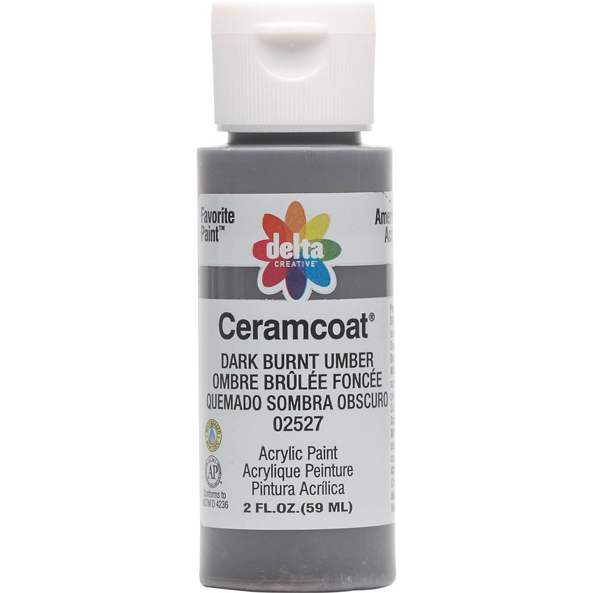 Delta Ceramcoat ® Acrylic Paint - Dark Burnt Umber, 2 oz.