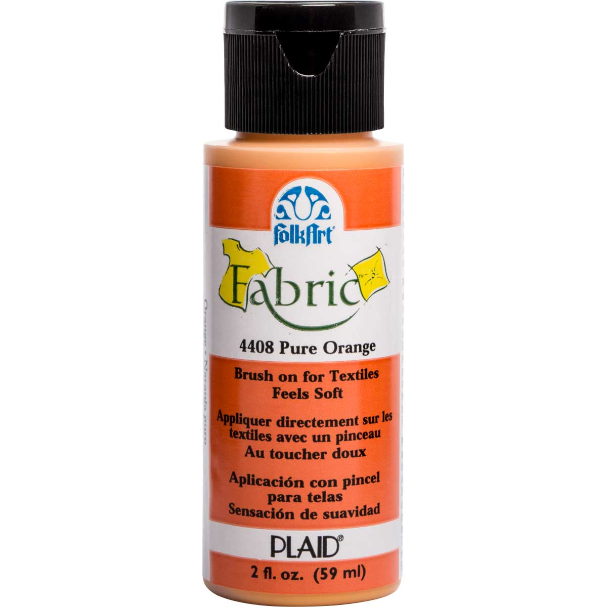 FolkArt ® Fabric™ Paint - Brush On - Pure Orange
