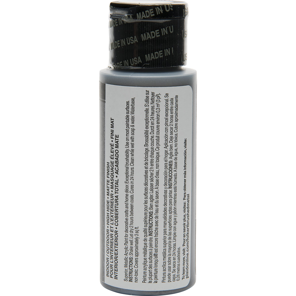 FolkArt ® Brushed Metal™ Acrylic Paint - Dark Gray, 2 oz. - 5167