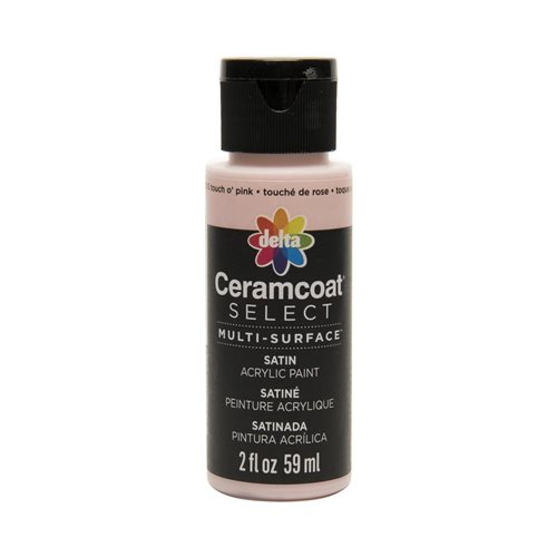 Delta Ceramcoat ® Select Multi-Surface Acrylic Paint - Satin - Touch O' Pink, 2 oz.