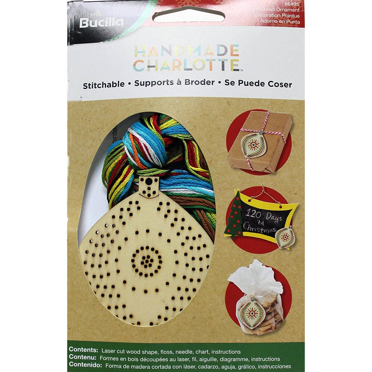 Bucilla ® Seasonal Handmade Charlotte™ Wood Stitchables - Pointed Ornament