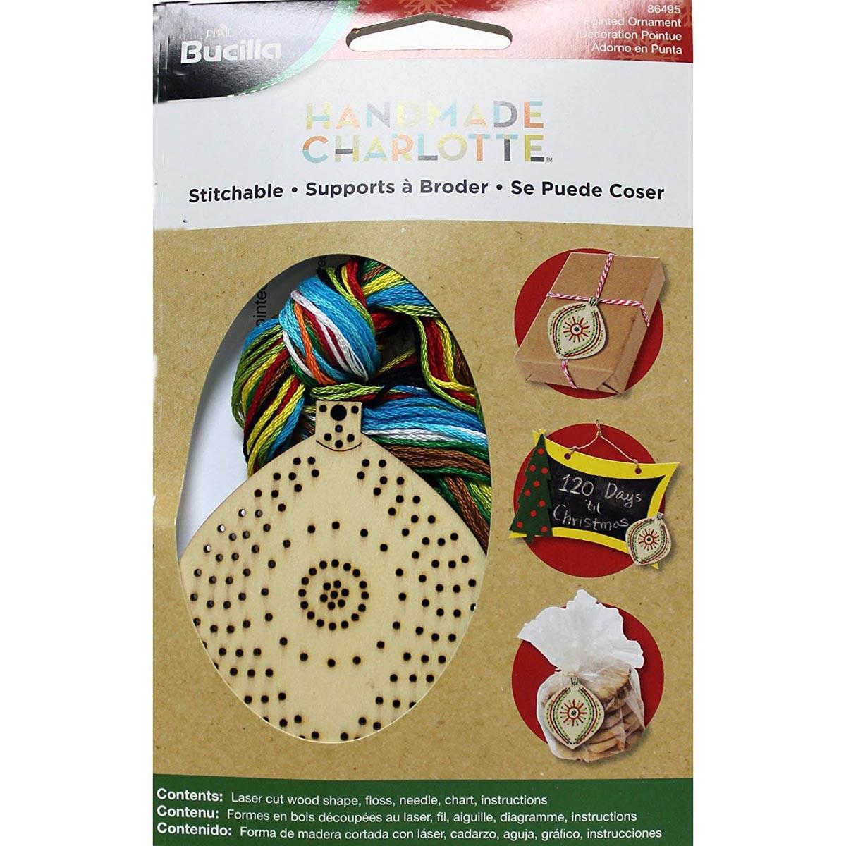 Bucilla ® Seasonal Handmade Charlotte™ Wood Stitchables - Pointed Ornament - 86495