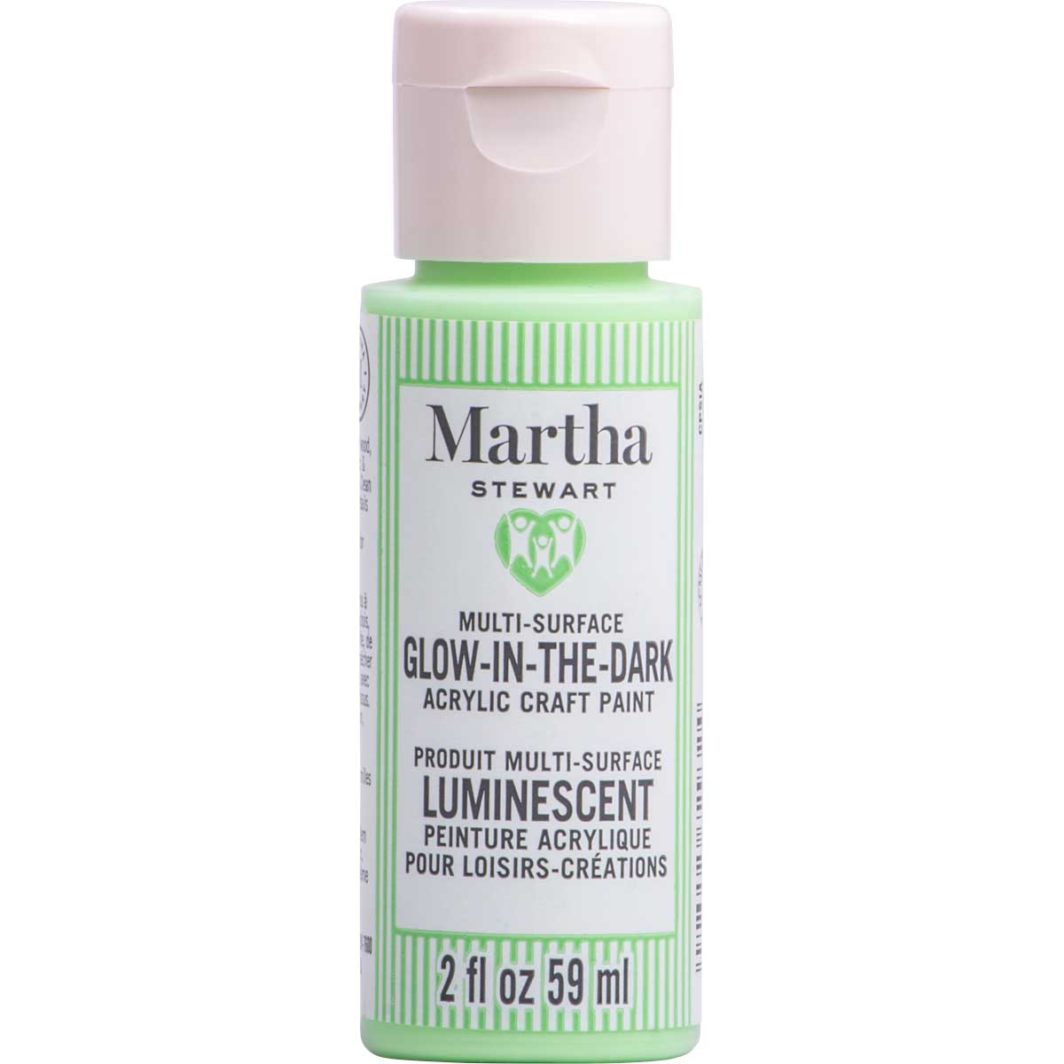 Martha Stewart ® Multi-Surface Glow-in-the-Dark Acrylic Craft Paint CPSIA - Green Dragon, 2 oz. - 72