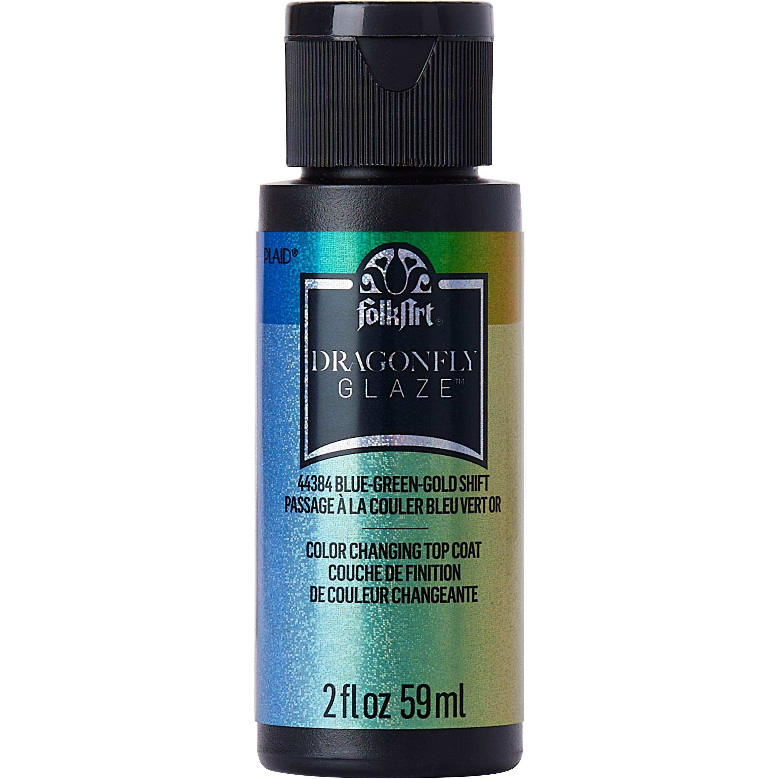 FolkArt ® Dragonfly Glaze™ - Blue-Green-Gold, 2 oz.