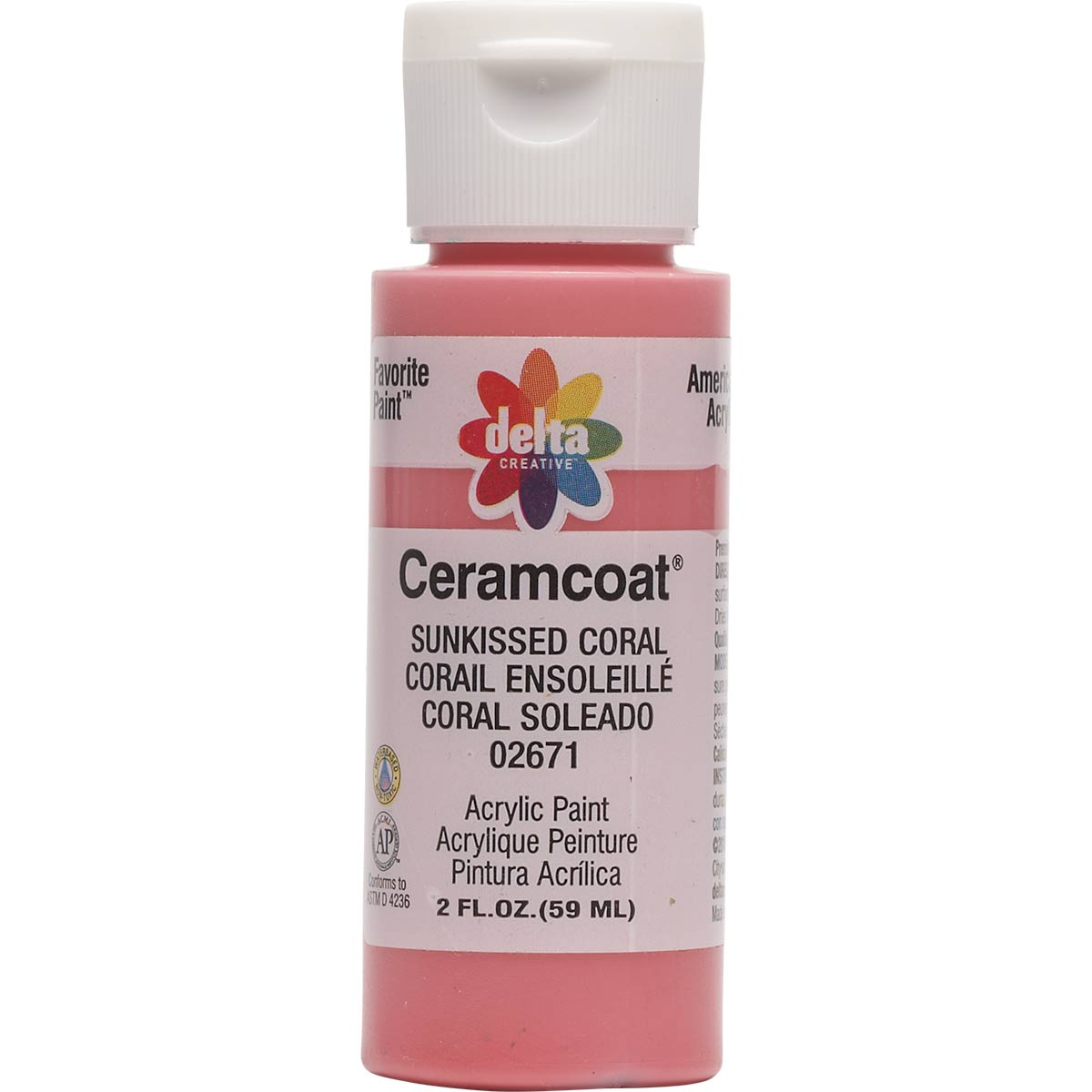 Delta Ceramcoat ® Acrylic Paint - Sunkissed Coral, 2 oz. - 026710202W