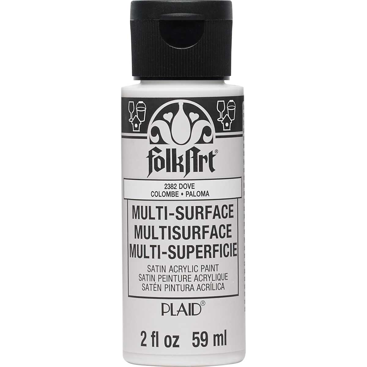 FolkArt ® Multi-Surface Satin Acrylic Paints - Dove, 2 oz.