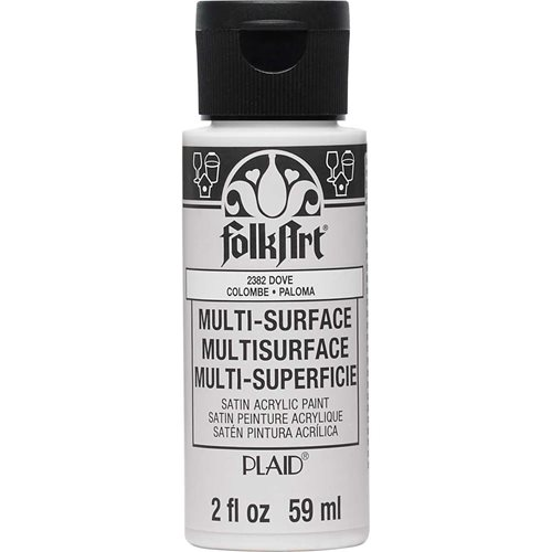 FolkArt ® Multi-Surface Satin Acrylic Paints - Dove, 2 oz. - 2382
