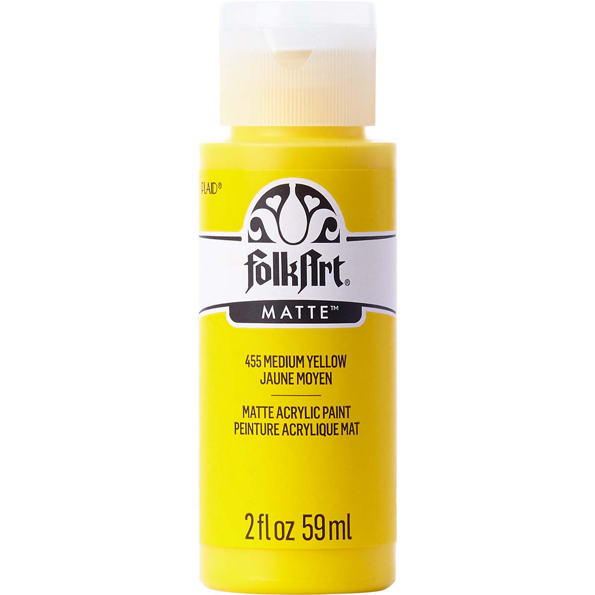 FolkArt ® Acrylic Colors - Medium Yellow, 2 oz. - 455