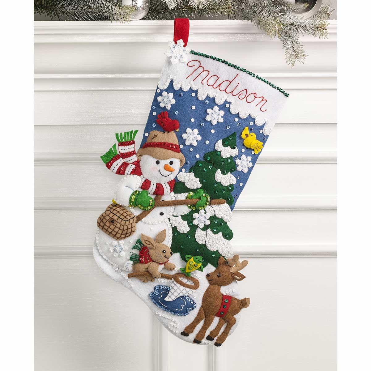 Bucilla ® Seasonal - Felt - Stocking Kits - Ice Fishing Snowman