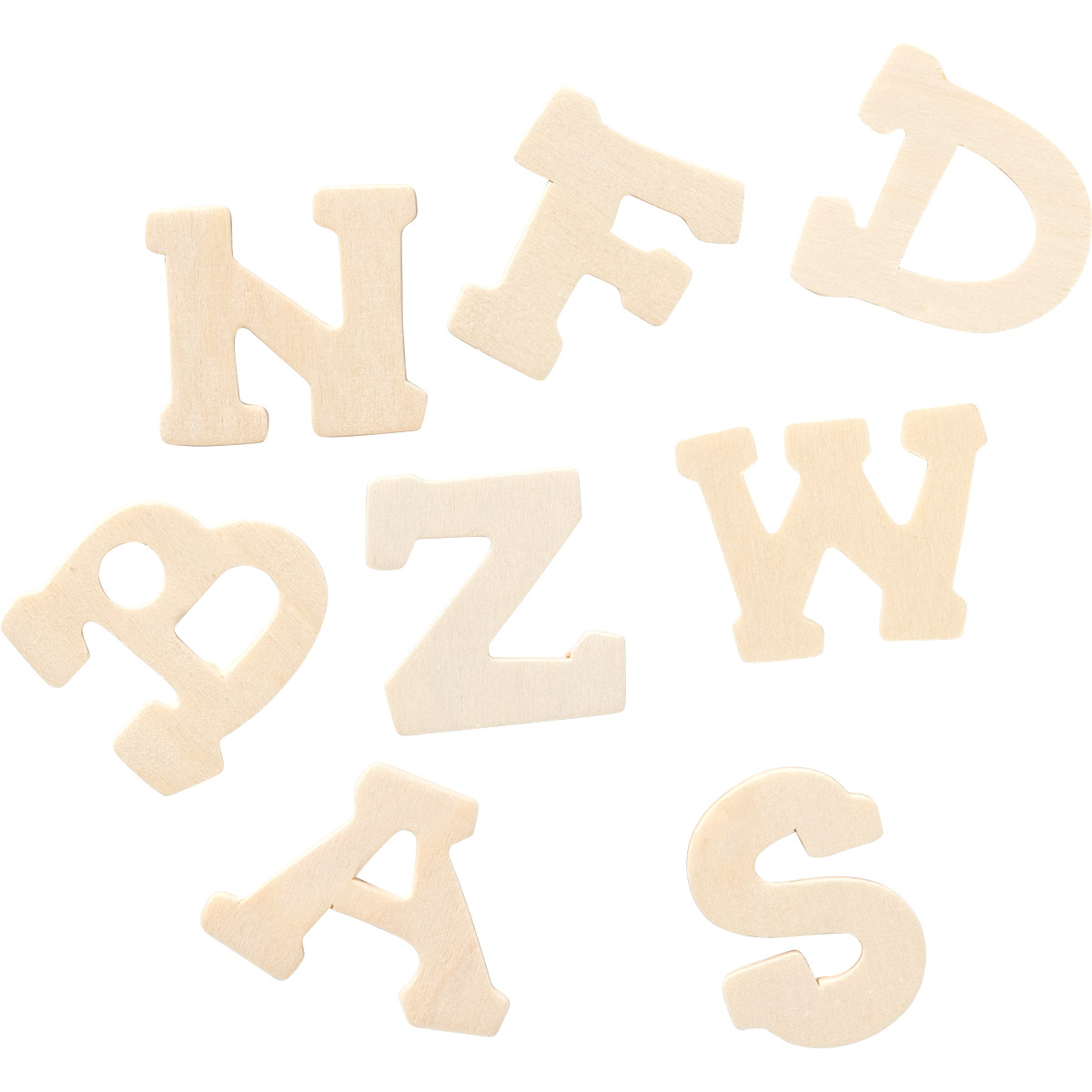 Plaid ® Painter's Palette™ Wood Letters, 1.75 inch, 36 pcs.