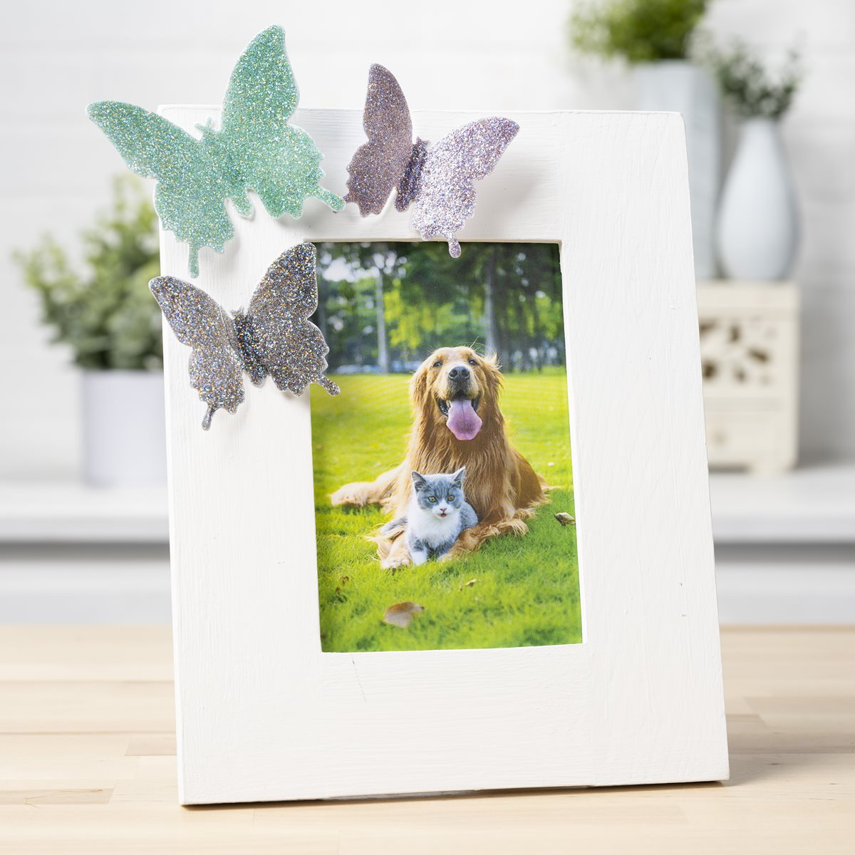 Glittered Butterfly Frame