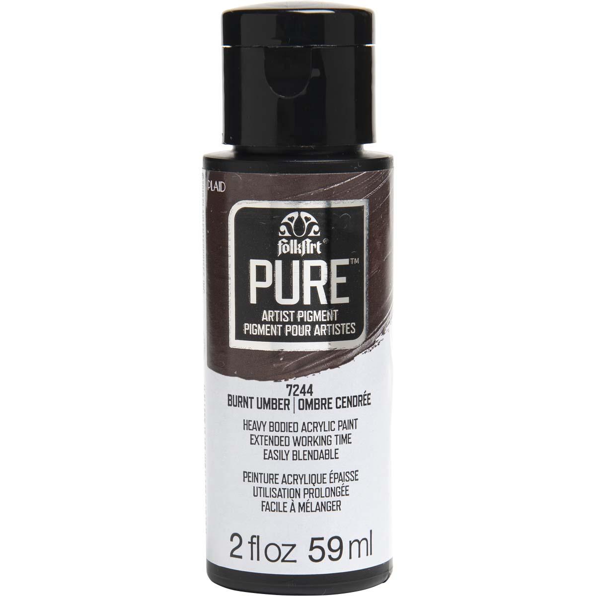 FolkArt ® Pure™ Artist Pigment - Burnt Umber, 2 oz. - 7244