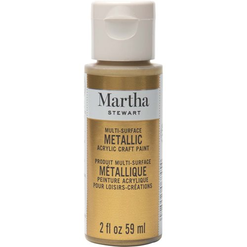 Martha Stewart ® Multi-Surface Metallic Acrylic Craft Paint - Gold, 2 oz.