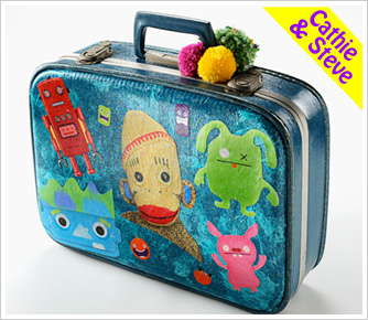 Funky Character Suitcase
