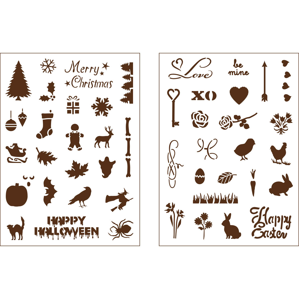 Martha Stewart ® Adhesive Stencil - Holiday Icons II