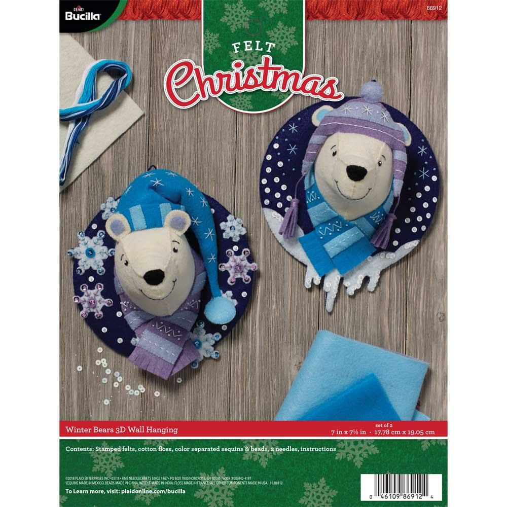 Bucilla ® Seasonal - Felt - Home Decor - Winter Bears Wall Hanging - 86912