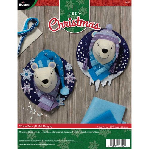 Bucilla ® Seasonal - Felt - Home Decor - Winter Bears Wall Hanging - 86912