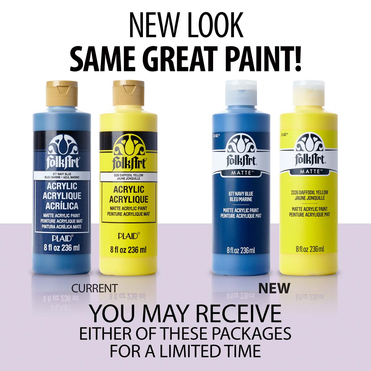 FolkArt ® Acrylic Colors - French Blue, 8 oz. - 874