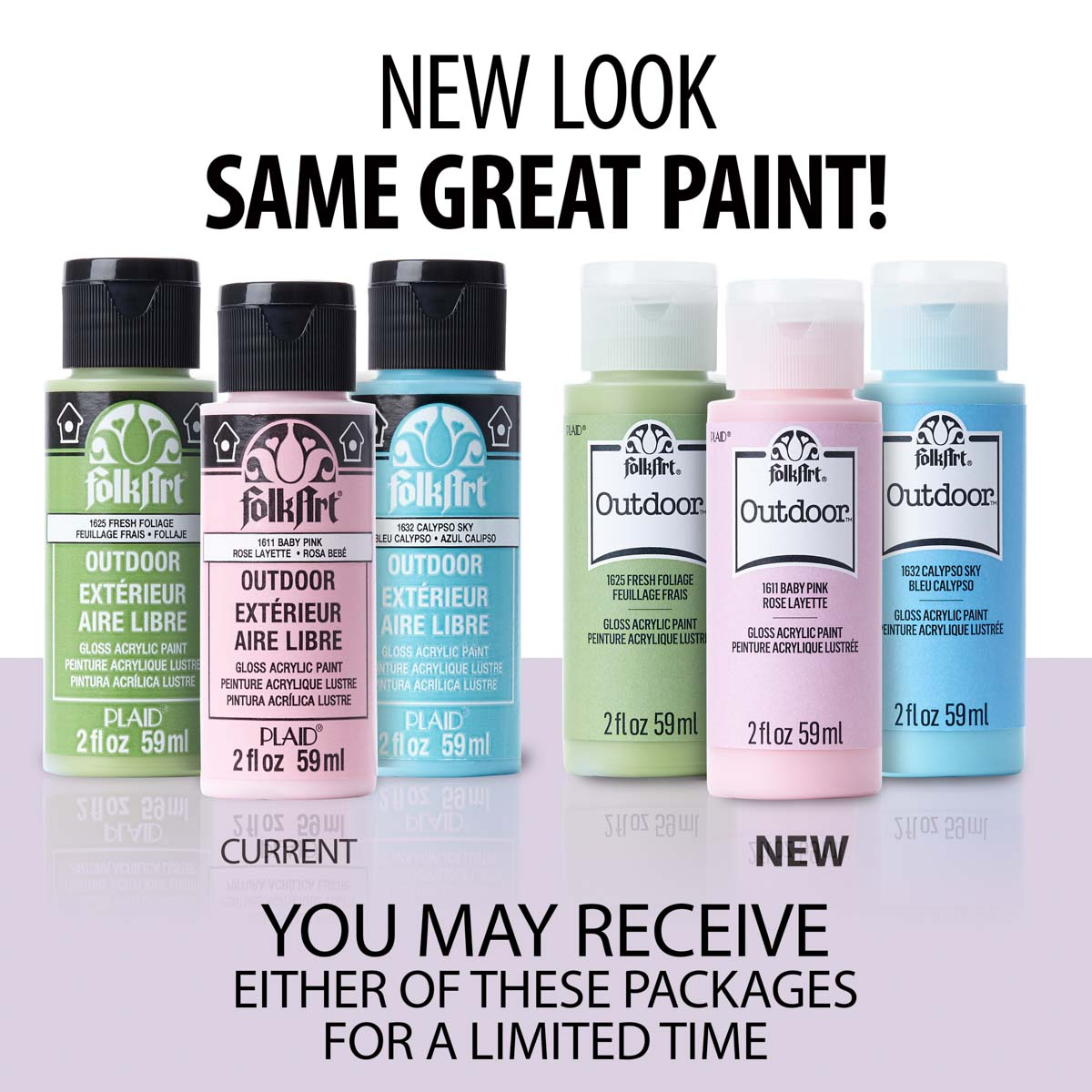 FolkArt ® Outdoor™ Acrylic Colors - Metallic - Amethyst, 2 oz. - 1666