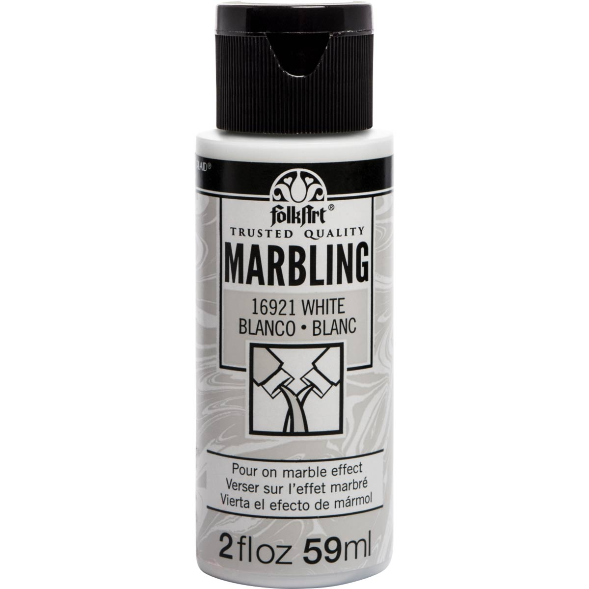 FolkArt ® Marbling Paint - White, 2 oz. - 16921