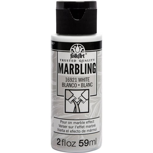 FolkArt ® Marbling Paint - White, 2 oz.
